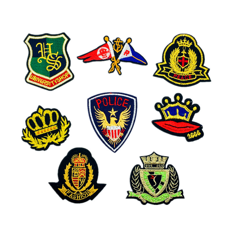 Premium Badge Badge Hat Badge Computer Embroidery Applique Ironing Apparel Applique D-022