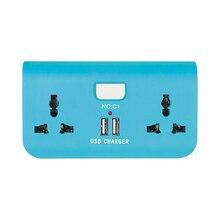 Multifunción inalámbrico socket 2 Puertos USB Cargador de Viaje Cargador Universal de Carga Del Teléfono Inteligente IC Carga de Pared de Energía de LA UE REINO UNIDO
