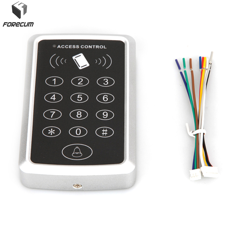FORECUM Smart Door RFID Card Password Access Controller Door Card Reader Digital Keypad Door Access Control Kit ID Card Reader diysecur lcd 125khz rfid keypad password id card reader door access controller 10 free id key tag b100