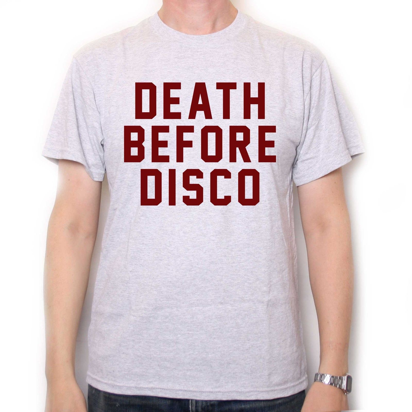 Death Before Disco T Shirt As Worn By Judge Reinhold In Stripes Cult Film Movie Comfortable t shirt,Casual Short Sleeve TEE