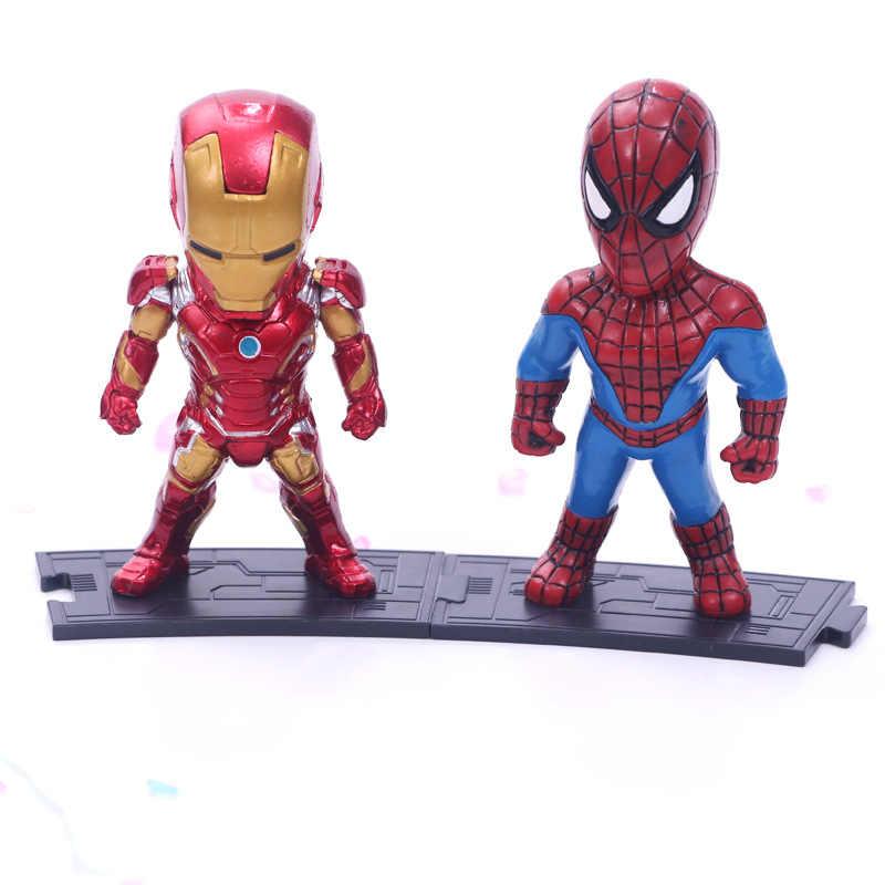 Marvel Мстители Endgame танос человек паук Халк Железный человек Капитан Америка Тор Росомаха фигурка героя игрушечные лошадки куклы для малыша