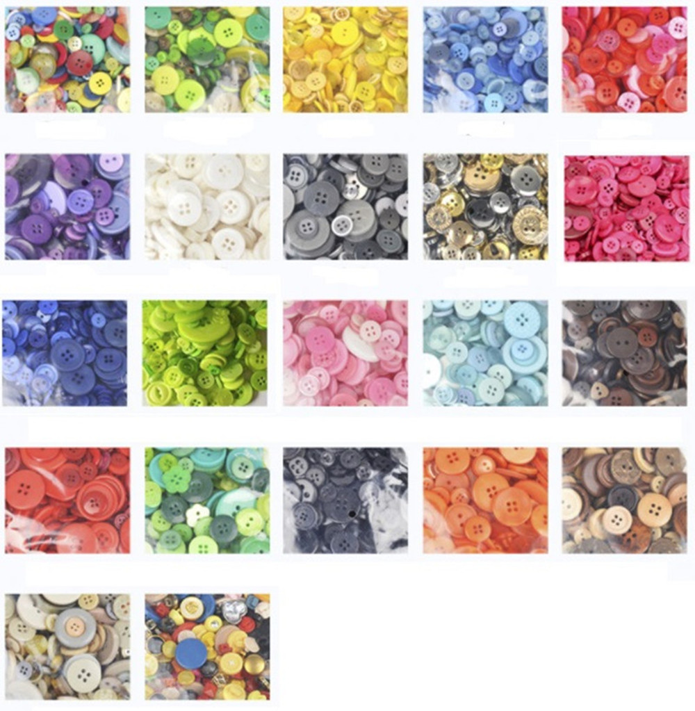 9-<font><b>30mm</b></font> Sizes Mixed 50g DIY Making Hand Knitting Doll's Clothing <font><b>Buttons</b></font> Resin Promotions Assorted Sewing Accessory Scrapbooking image