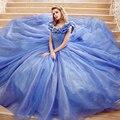 Vintage Increíble Cinderella Balón vestido de Boda Vestido Largo Grande Puffy Vestido de Cuello Barco vestido de novia robe de mariage 2017 Amagzin
