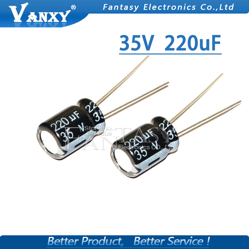 20PCS Higt Quality 35V220UF 8*12mm 220UF 35V 8*12 Electrolytic Capacitor