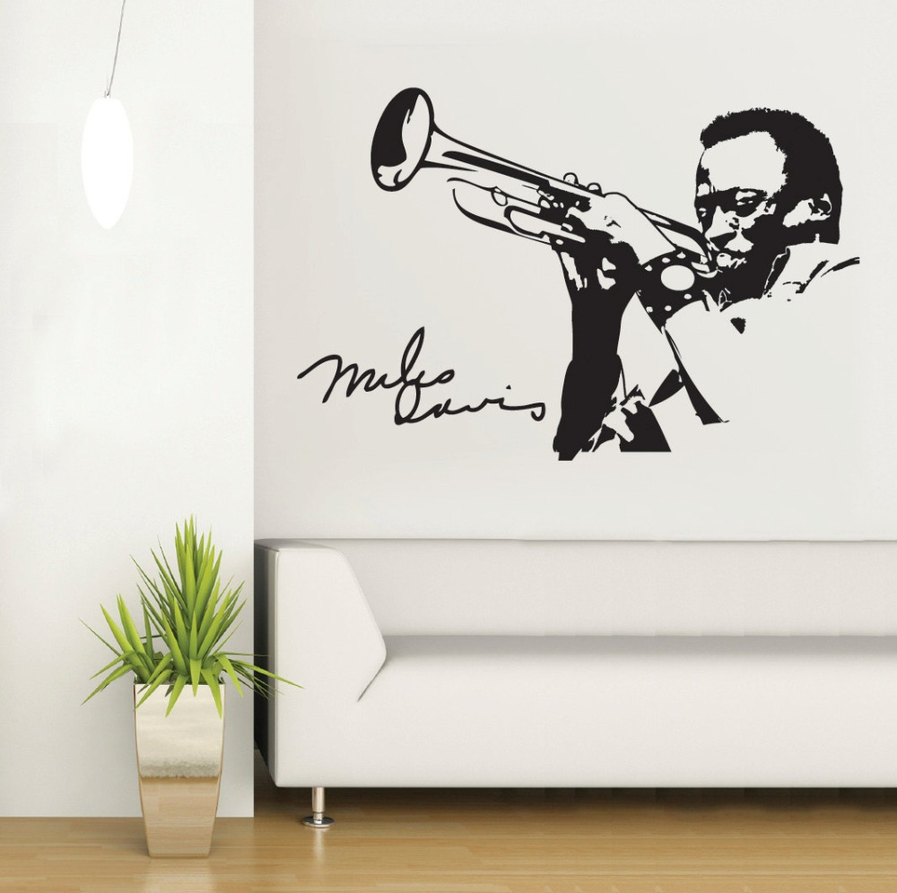 Man playing saxophone silhouette wall mural music series for Mural art designs for bedroom