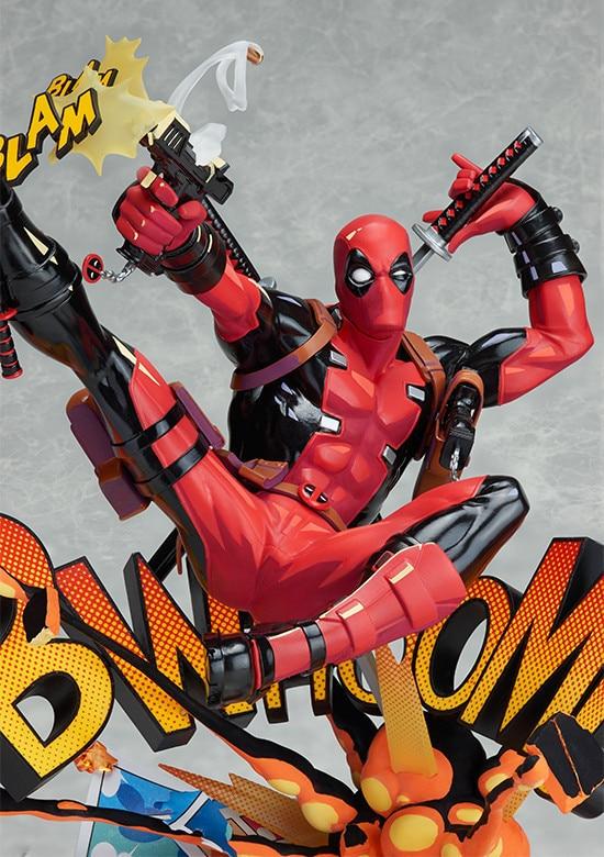 ALEN new X-men Marvel Deadpool Breaking The Fourth Wall Blam Complete Figure Model Toy 23cm marvel platinum the definitive x men reloaded