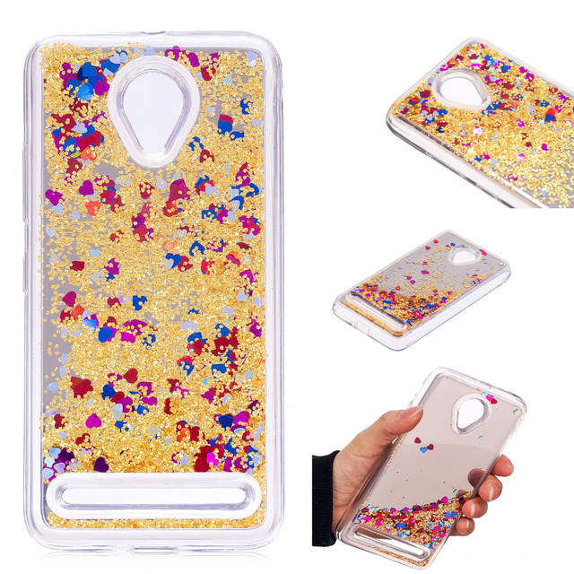"""4 Color Cover Case For Lenovo C2 k10a40 5.0"""" Mirror Dynamic Liquid Quicksand Protection Shell Glitter Design Vibe C2 Phone Coque"""