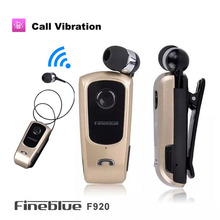 FineBlue F920 Bluetooth 4.1 Wireless Earphone Headset Stereo Headphone with Mic Clip Vibration Call for Phone Driver Auriculares