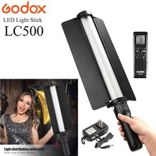 лучшая цена Godox LC500 3300K-5600K Portable Handle Video Lamp LED Light Stick For Studio Photo Photography Built-in Battery
