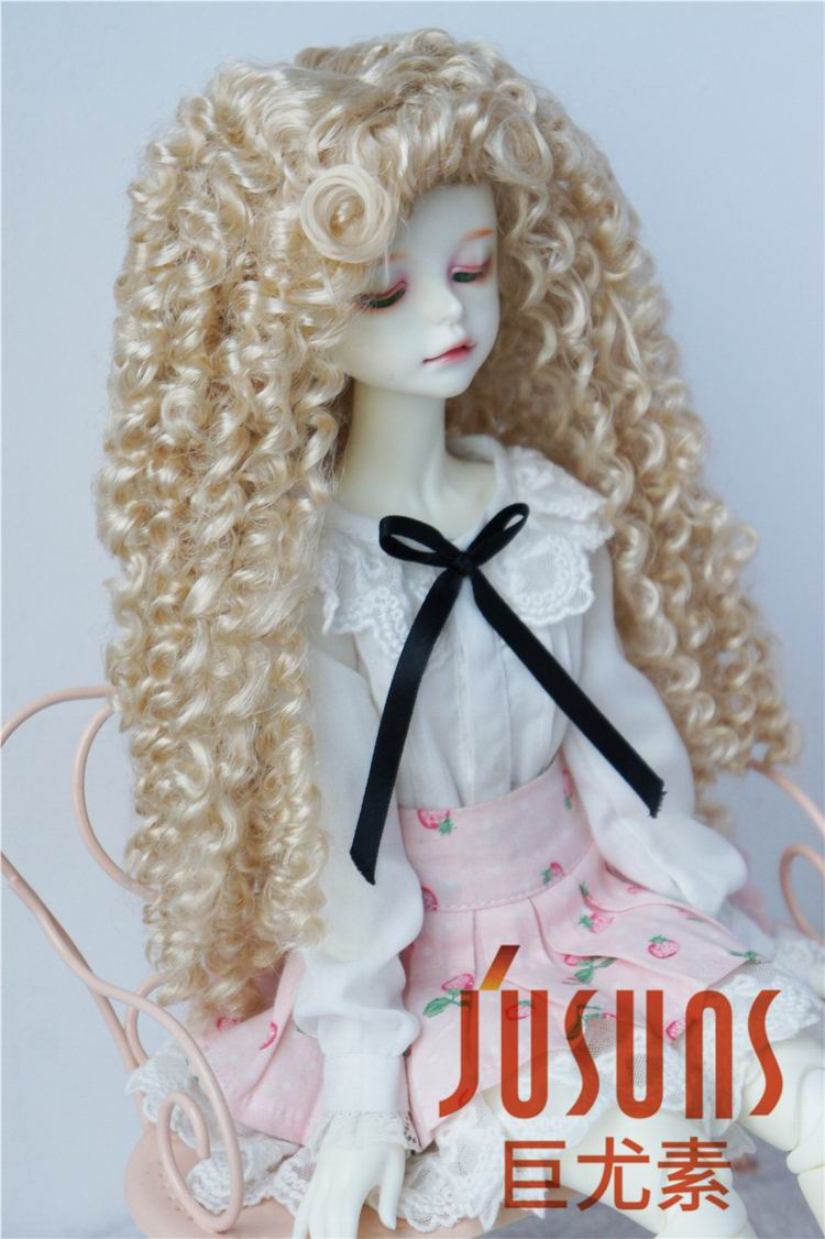 JD145 MSD synthetic mohair doll wigs 7-8inch Long curly BJD hair 1/4 Doll accessories