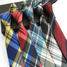Colorful Men British Grids Check Tartan Polka Dots Skinny Tie Necktie BWTHZ0013