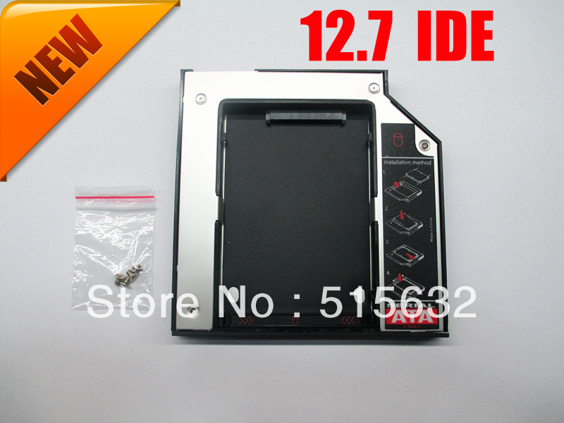 цена на NEW SATA to PATA/IDE 12.7mm Second 2nd HDD Caddy Optical Bay DELL INSPIRON 1525