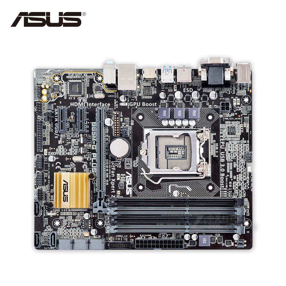Original Used Asus B85M-G PLUS Desktop Motherboard B85 Socket LGA 1150 i7 i5 i3 DDR3 32G SATA3 Micro-ATX 100% Fully Test asus h87 plus deluxe board 1150 b85 motherboard