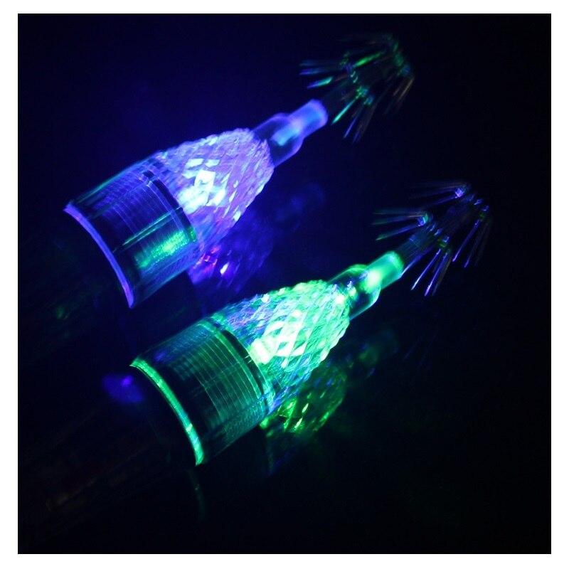 Appât de poisson à manches lampe à LED pour la pêche en mer appâts et hameçons de calmar de 60 mètres de profondeur