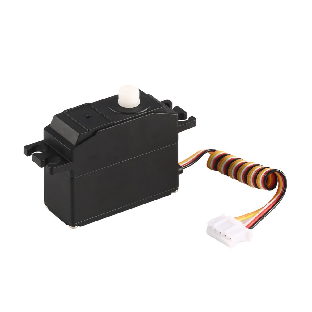 25g Plastic Servo Steering Gear Servo for 1/12 Wltoys 12428 12423 RC Car Truck Model Steering Part Accessories Micro RC Servo wltoys 12428 12423 1 12 rc car spare parts 12428 0091 12428 0133 front rear diff gear differential gear complete