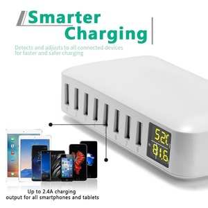 Image 5 - Tongdaytech Multi 8 Port USB Fast Charger Desk Phone Carregador LCD Display Charger Dock For Smartphone Iphone Samsung Xiaomi