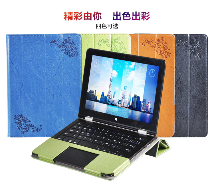 Floral Printed Flip Stand PU Leather Cover Case For Voyo VBook V1 10.1 inch Tablet (can put keyboard) Notebook Shell Bag Sleeve 12mm waterproof soprano concert ukulele bag case backpack 23 24 26 inch ukelele beige mini guitar accessories gig pu leather
