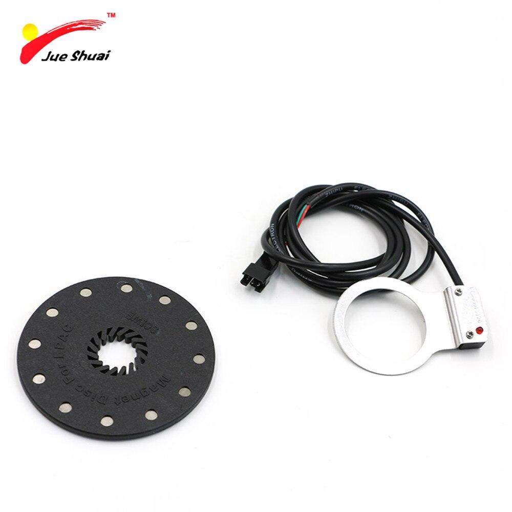 JS 12 aimants capteur d'assistance à la pédale système PAS électrique vélo vélo Assistant de vitesse capteur Ebike Kit de Conversion pièces accessoires