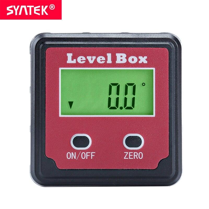 Helder Syntek Rode Precisie Digitale Gradenboog Inclinometer Level Box Digitale Hoekzoeker Bevel Box Met Magneet Base Automatische Lcd Ce Een Compleet Scala Aan Specificaties
