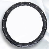 High Quality Leather Steering Wheel Cover Universal Auto Steering Wheel Cover Car Styling 38CM Anti Slip