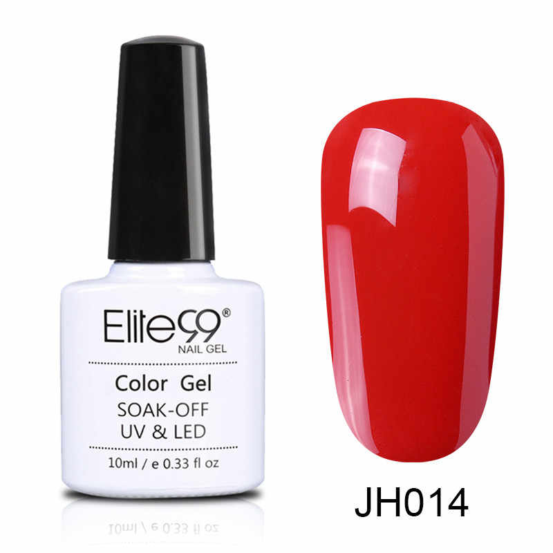 Elite99 10ml ไวน์แดงสีเล็บกึ่งถาวรเล็บ GEL Varnish Soak Off UV LED เจล Lacuqer สีสันขัด