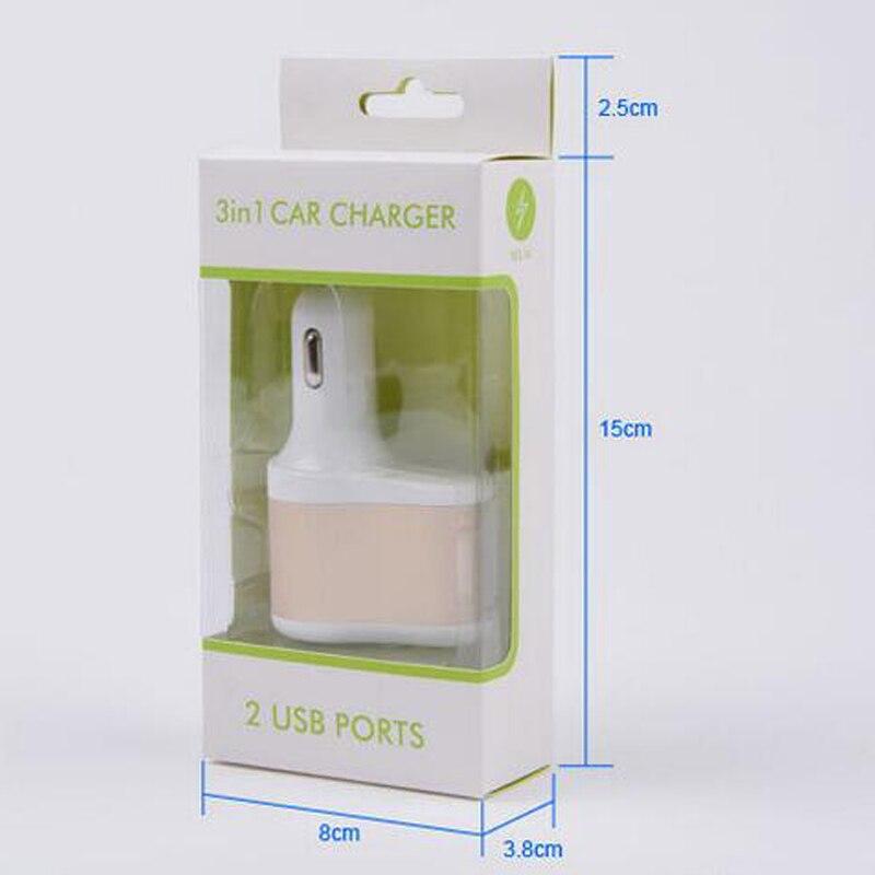3 i 1 Billaddare Vpower Smart Shunt Dual USB Snabbladdning - Reservdelar och tillbehör för mobiltelefoner - Foto 5