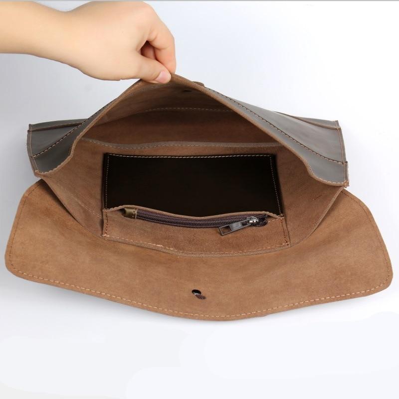 Joyir men genuine leather briefcase Cross section handwork crazy horse leather computer bag men two colors