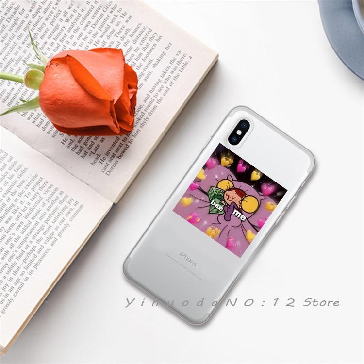 Yinuoda супер милый кот собака мультфильм розовый в форме сердца ты и я серия HD Прозрачный чехол для телефона для iphone 6 7 8 Plus X XS XSMax 5S - Цвет: 1