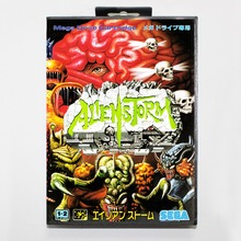 Alien Storm 16 bit MD card with Retail box for Sega MegaDrive Video Game console system