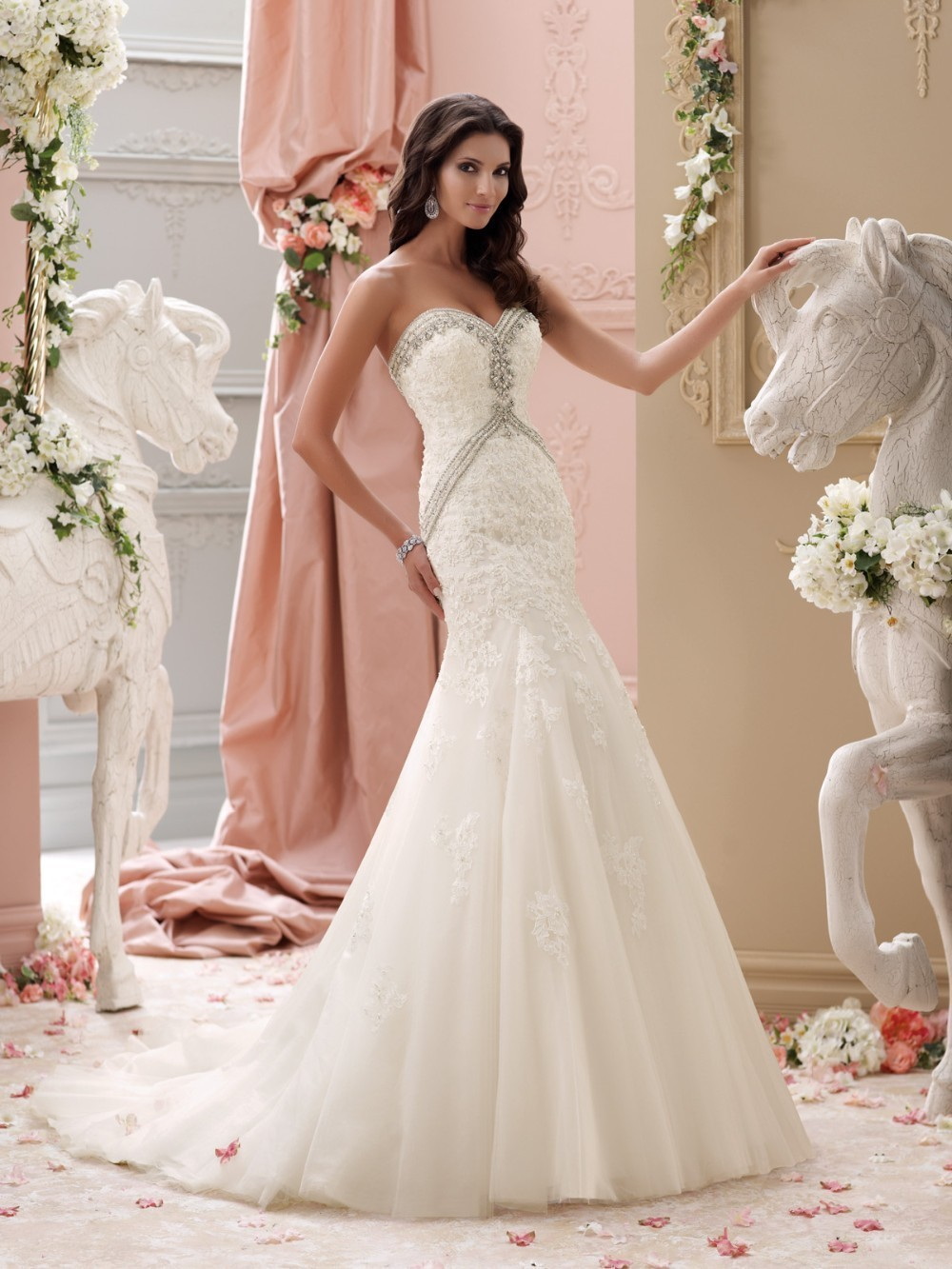 Online buy wholesale bling mermaid lace wedding dress from for Ordering wedding dresses online