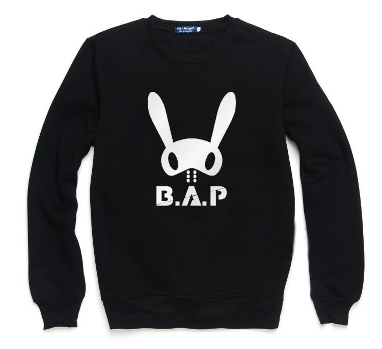 Active K-pop Pick Out The Name Of The Memberb.a.p The Same Round Collar The Bap Hoodies The Rabbit Head Around The Concert Sweatshirts Delicious In Taste