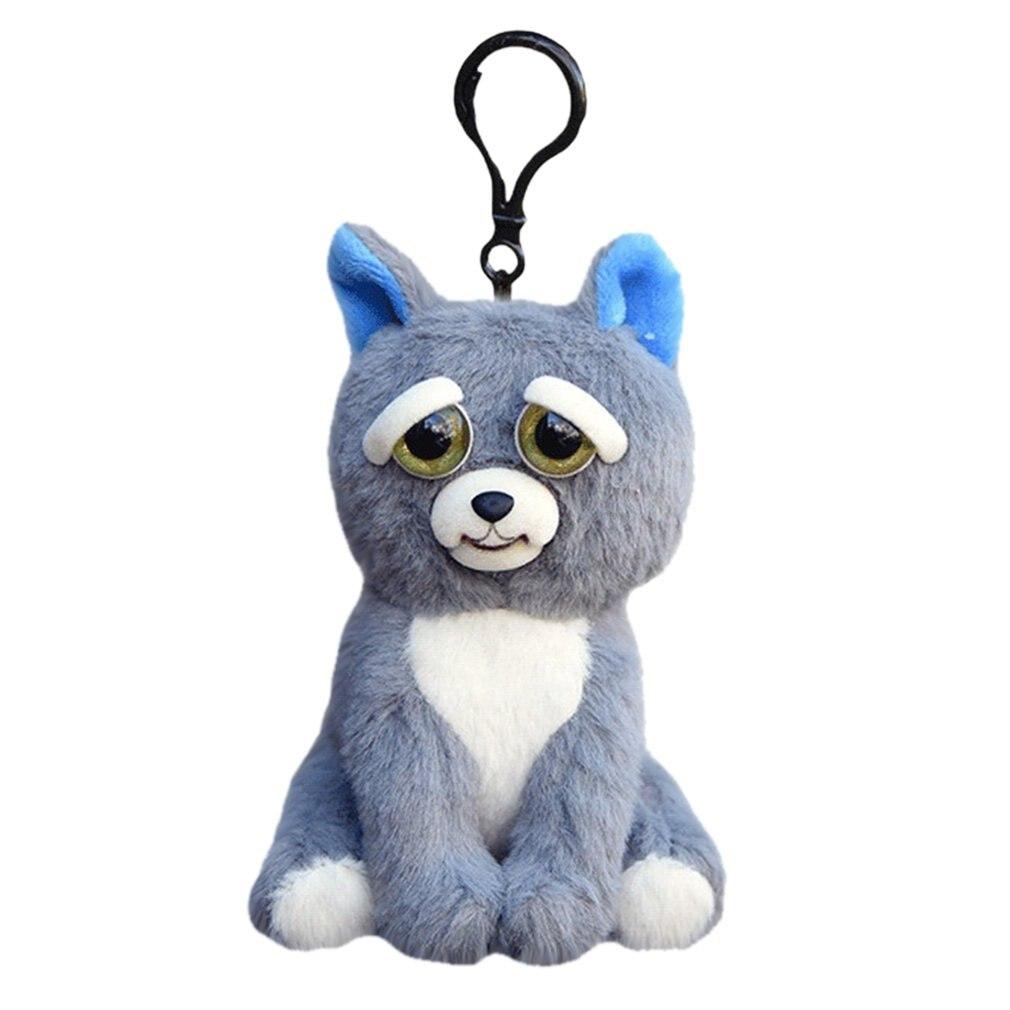 Мини Злющий Домашние животные Забавный выражение лица Изменение лица животного куклы Мягкие плюшевые игрушки Обучающие куклы для детей Ро... ...