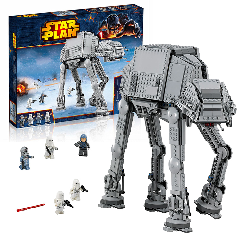 Lepin 05051 Star Wars AT-AT building bricks blocks Toys for children Game Compatible with Decool Bela 75054 lepin 02012 city deepwater exploration vessel 60095 building blocks policeman toys children compatible with lego gift kid sets