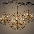 Luzes de Pingente de cristal de Ferro do vintage Industrial Loft Retro Luminária para Bar Café Restaurante Quarto Pendurado Lâmpada E14 lâmpada led