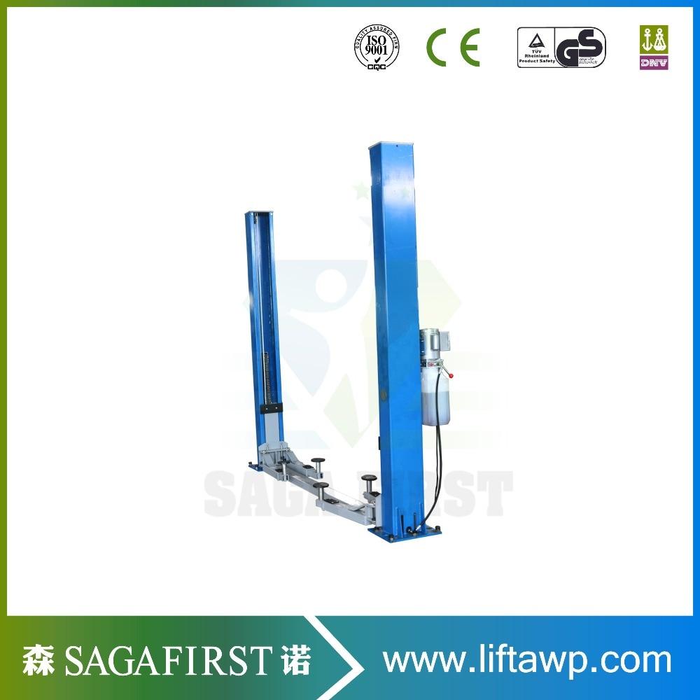 Super-Symmetric Arms Floor-Plate Twin Columns Car Lifter