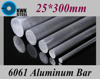 25 300mm Aluminum 6061 Round Bar Aluminium Strong Hardness Rod For Industry Or DIY Metal Material