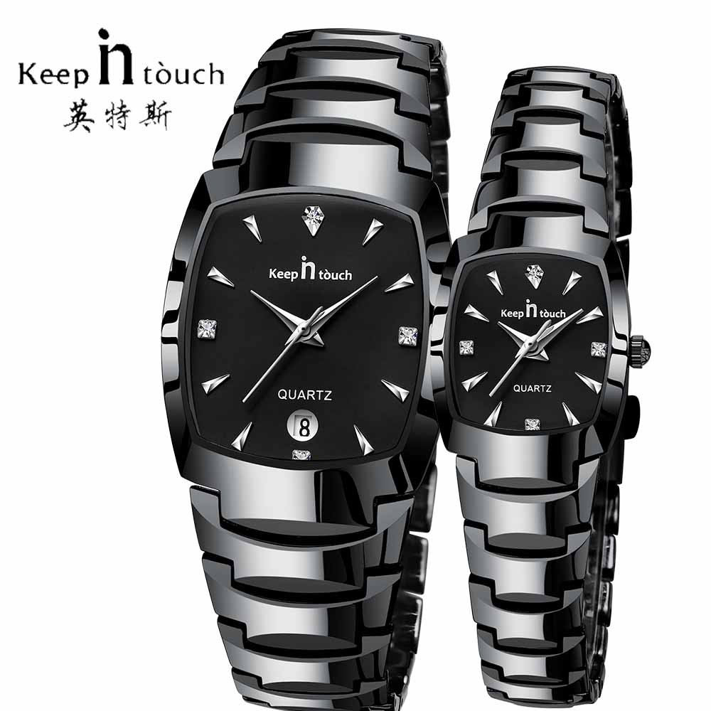 KEEP IN Touch Fashion Couple Lovers Watch Waterproof Luxury Women Mens Watches Stainless Steel Dress Wedding Gift Wirstwatch ...