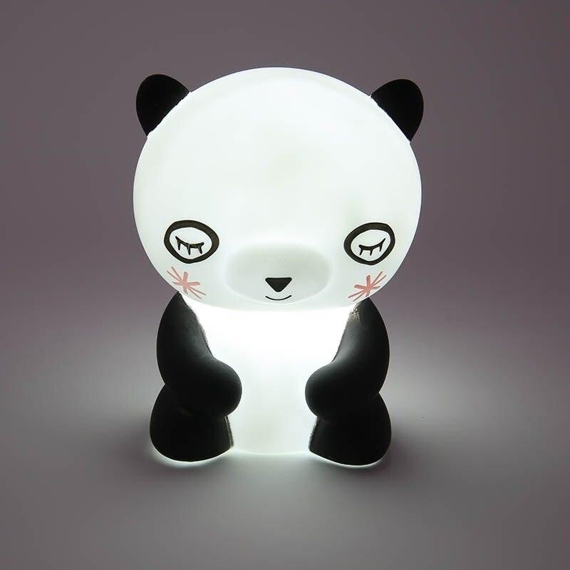 2018 панда LED ночь Decor Симпатичные панды светодиодный свет ночи животное шатер Лампы для мотоциклов на стене для Детская Вечеринка Украшения в...