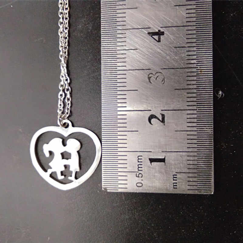 Family Boys Girls Stainless Steel Necklaces Necklace & Pendants For Women Men Kids Jewelry colares feminino masculino