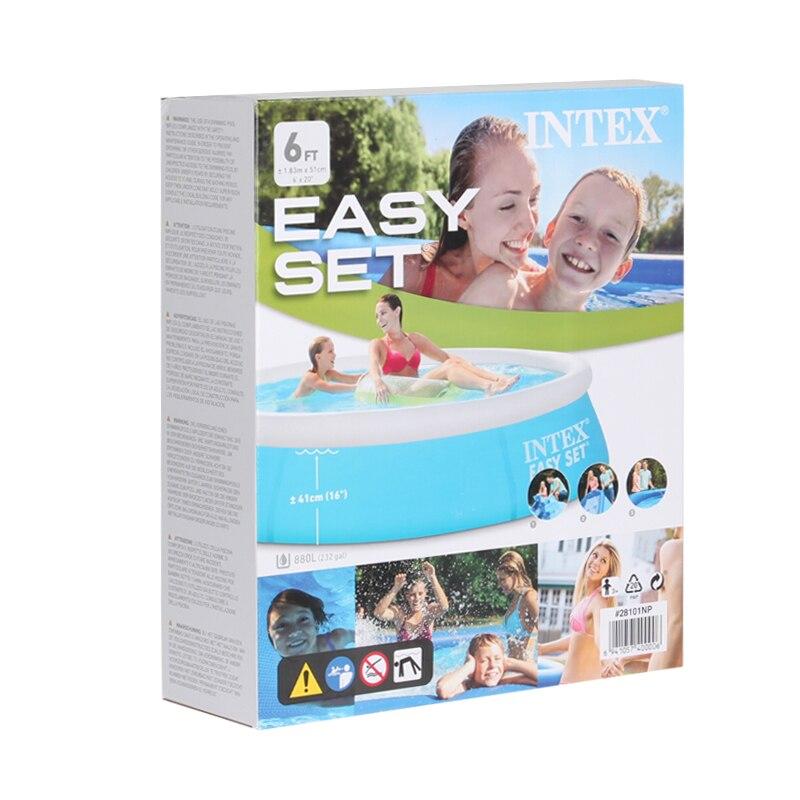 183cm familj uppblåsbar pool över marken pool barn vuxna barn blå - Vattensporter - Foto 5