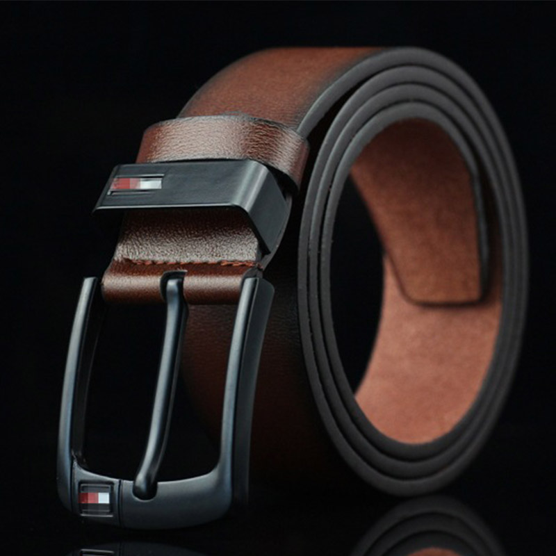 115cm Genuine Leather Belt for Men Classic Alloy Pin Buckle Punk Waistbelts Wild West