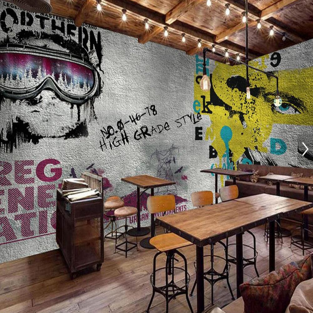online get cheap graffiti wall murals aliexpress com alibaba group europe vintage girl boy wallpaper graffiti photo wall mural landscape for bar coffee shop restaurant shop