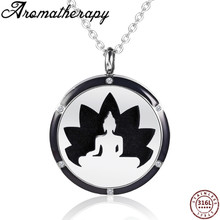 Amulet Pendant Essential Oil Diffuser Necklace Stainless Steel Magnetic Locket Black Enamel Charms Perfume