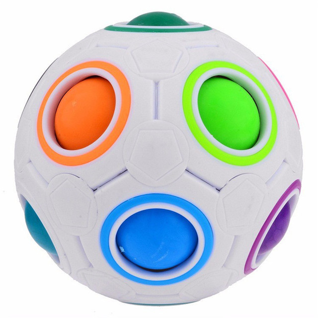 Creative Rainbow Football Puzzle Learning & Educational Toys For Children Kids Adult Spherical Magic Cube Toys 1