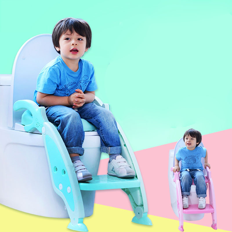 Baby Potty Toilet Training Pan Toilet Seat Baby Potty Seat Children Training Safety Toilet Seat With Adjustable Ladder