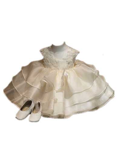 BABY WOW White Formal Gowns Baby Girl Dress for Flower Girl Dresses 1 Year Birthday Vestido