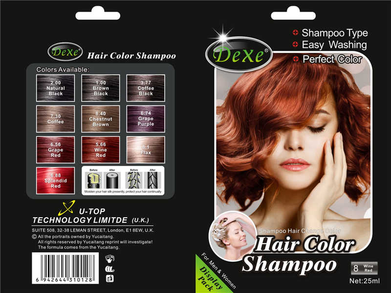 Detail Feedback Questions about 5pcs/lot Dexe Black Hair Shampoo ...