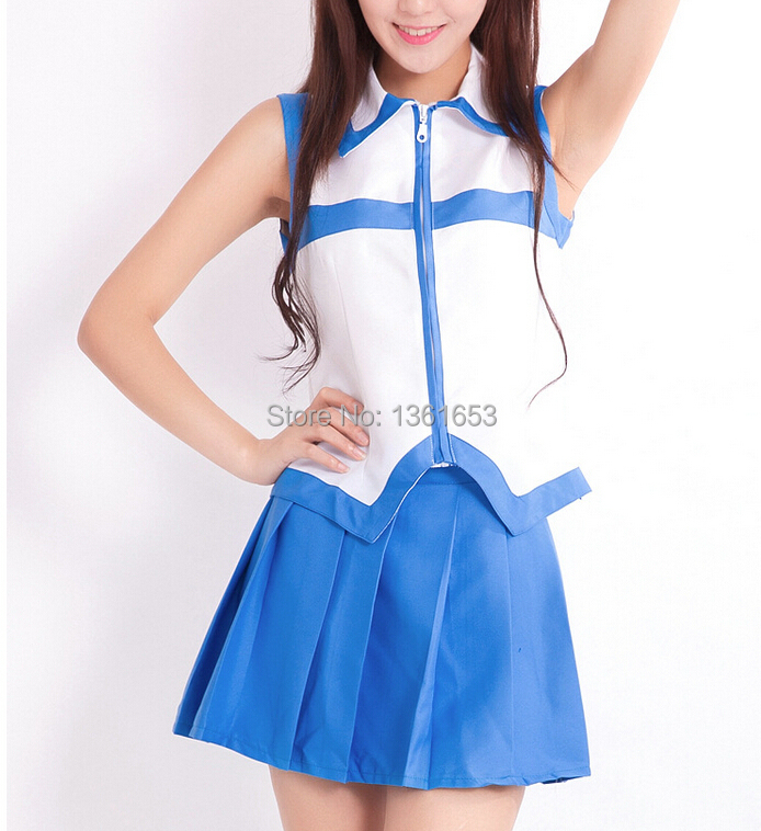 Anime Fairy Tail Lucy Heartfilia Cosplay Costume full suit halloween costumes for women