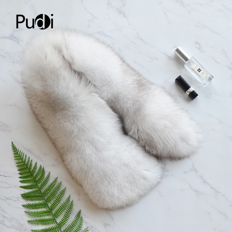 SF817 Pudi real fox fur   scarf     wraps   2018 new arriving natural fox fur   scarves   shawls black natural grey