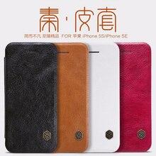 Funda pour iPhone SE 5 5S étuis Nillkin QIN série Filp étui en cuir housse de protection de luxe pour iphone 5s couverture iphone 5 étui
